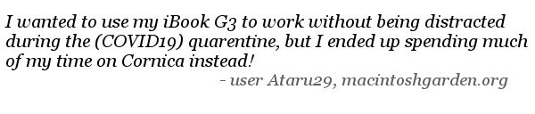 quote user ataru29 about using Cornica on his performa 475